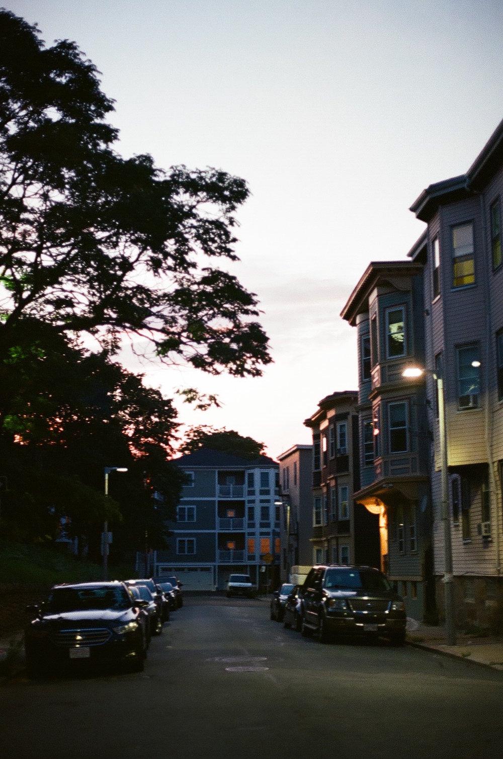 Sunset in Boston, 2018.