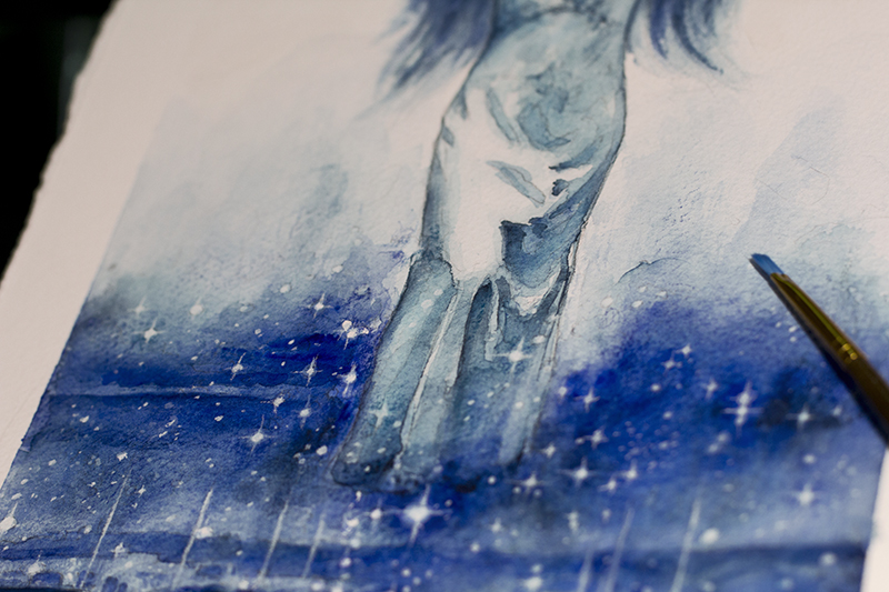 Blue Orchids Detail 2 - Dina Blokhina