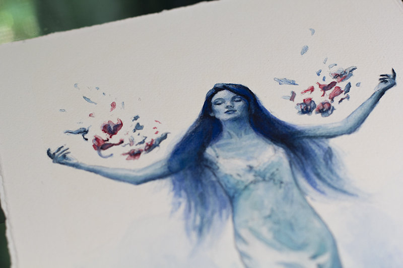 Blue Orchids Detail 1 - Dina Blokhina