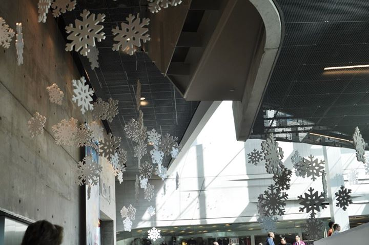 Copy of Snowflakes in the lobby of the Perot Museum