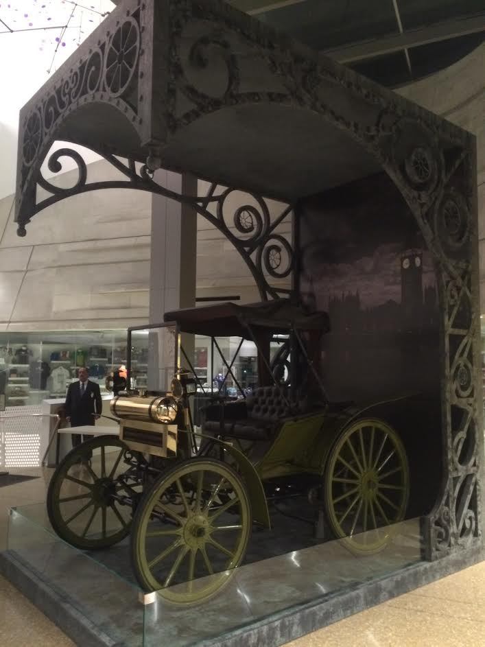 Concept #2: Ornate 3 Dimensional frame to display a car from Sherlock Holmes' era.