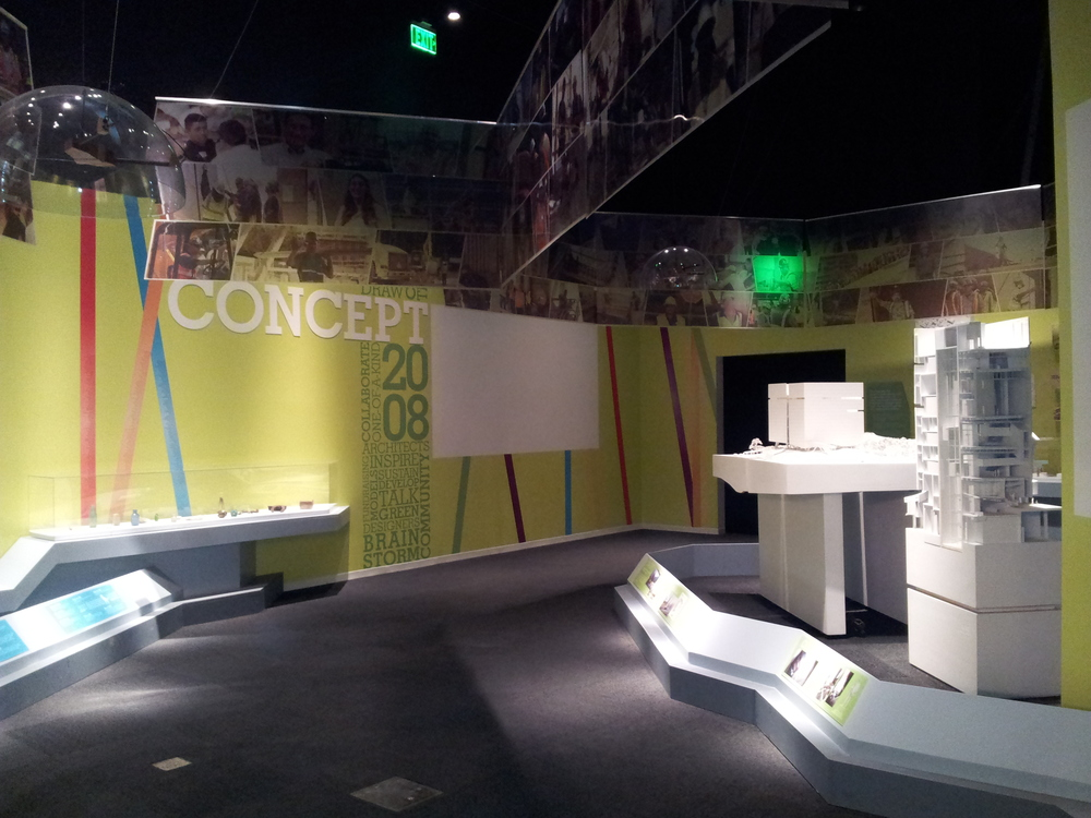 "Mecca installed the ""Building the Building"" exhibit in 2013"