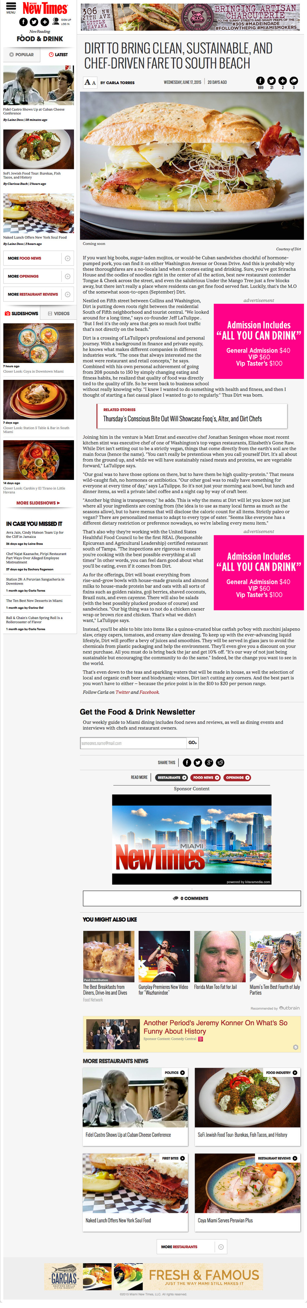 Dirt to Bring Clean, Sustainable, and Chef-Driven Fare to South Beach | Miami New Times 2015-07-07 11-06-15.jpeg