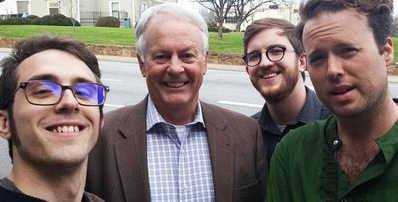 The C:E team with Hugh Blackwell, Burke County's state representative who voted for HB2.