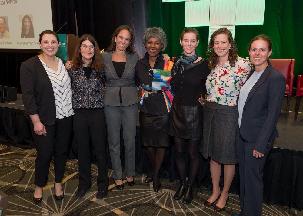 IIG Founder Dune Thorne (3rd from the right), IIG Board Co-Chair Lisa Mullan (far right), IIG Executive Director Betsy Kelder (2nd from the right), IIG New England Program Director Erin White (3rd from the right) and IIG Board Member Joan Miller (2nd from the left)