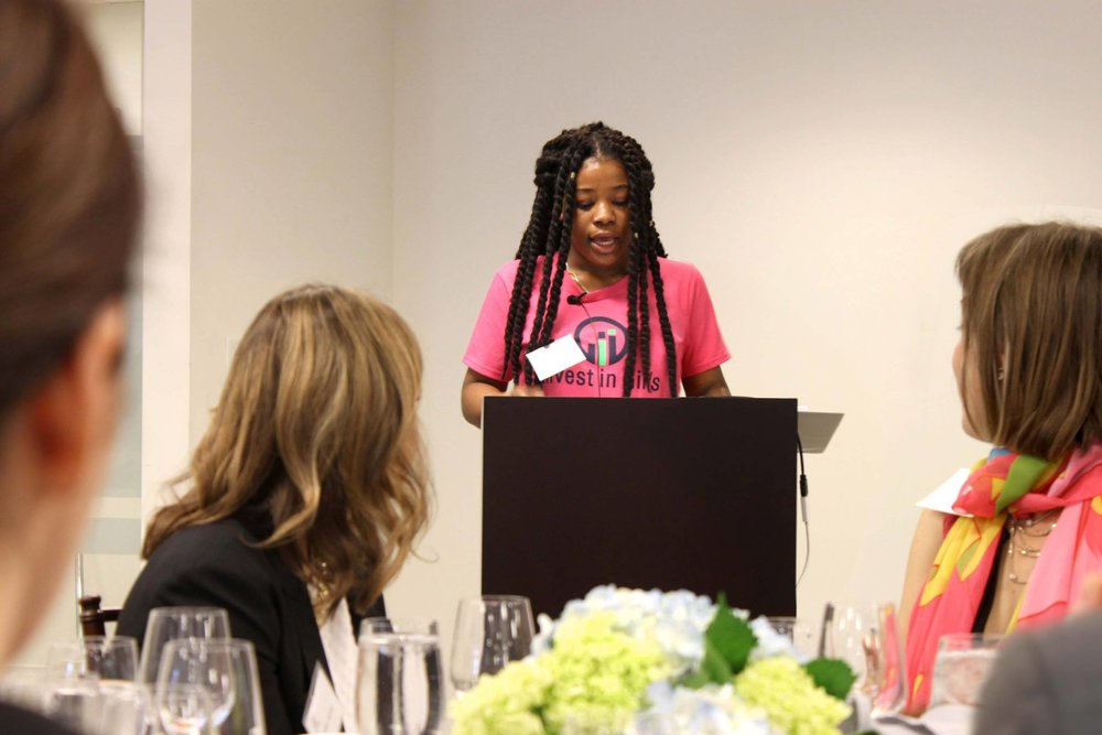 First Annual Champions of Financial Literacy Breakfast Speaker & IIG Alumni Keyona Duncan. (May 2018)