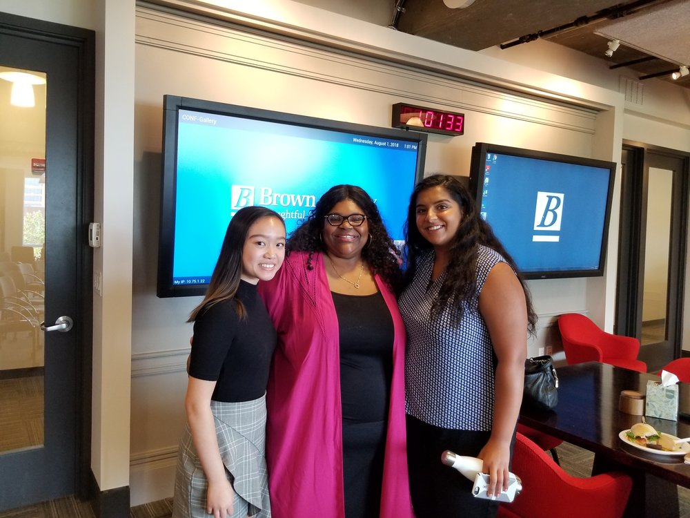Brown Advisory Fellows from the Invest In Girls Baltimore Region after their final presentation at Brown Advisory Baltimore offices with Program Director Shannan Taylor