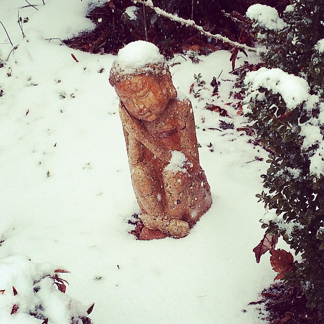 The snow is falling but we're just resting up for tonight. No plans to close yet! #eatlocal #delrayva #snowverit