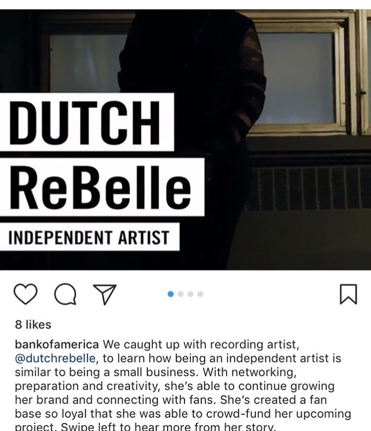 Dutch ReBelle featured by Bank Of America on Instagram