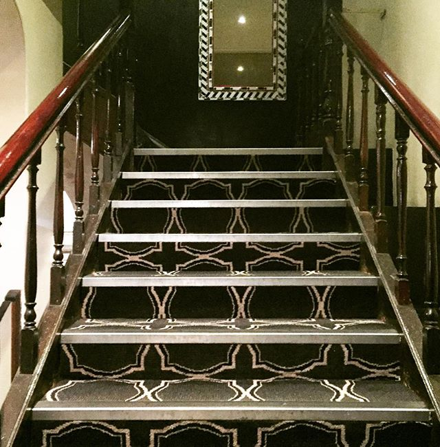 The stairway to something special... Take a walk up these stairs at the Ambassadors Hotel and see what a stunning room lies above. @ambassadorshotel #staircase #somethingspecial #roomwithaview
