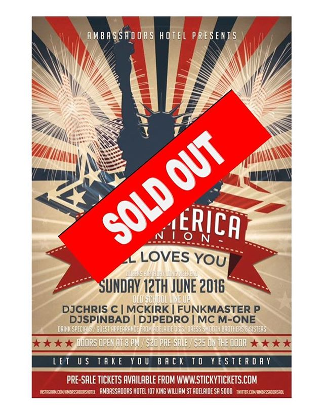 CLUB AMERICA REUNION IS SOLD OUT! Thank you to everyone who has purchased tickets, we are extremely excited to bring this event back to its original location. @ambassadorshotel #clubamericareunion #takeyoubacktoyesterday #partytime #longweekend