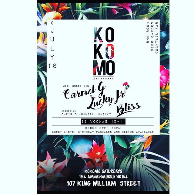 KOKOMO.. Doors open from 10pm $5.00 vodka from 10-11pm. RnB~house~hip hop @ambassadorshotel #dj #music #nightclub #party #adelaidenightlife #specialguest