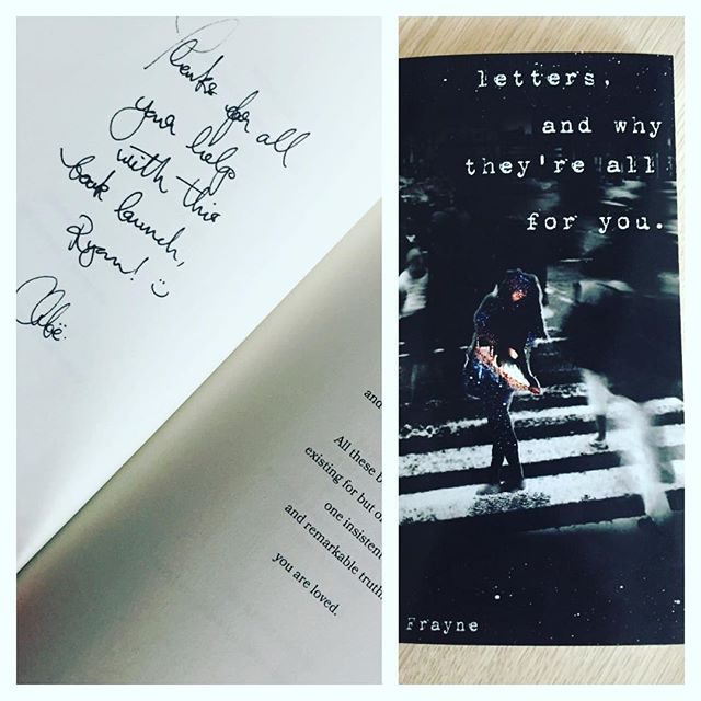 Congratulations to Chloe on your first book launch on Saturday night at the Ambassadors Hotel. A beautifully written book and may we wish you all the success for you future writing. Thank you for a personally signed book. @ambassadorshotel #book-launch #chloefrayne #poetry #personallysigned #author