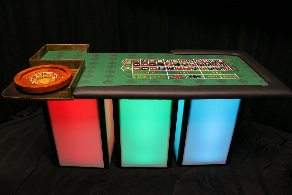 WE also offer tables that GLOW!!!