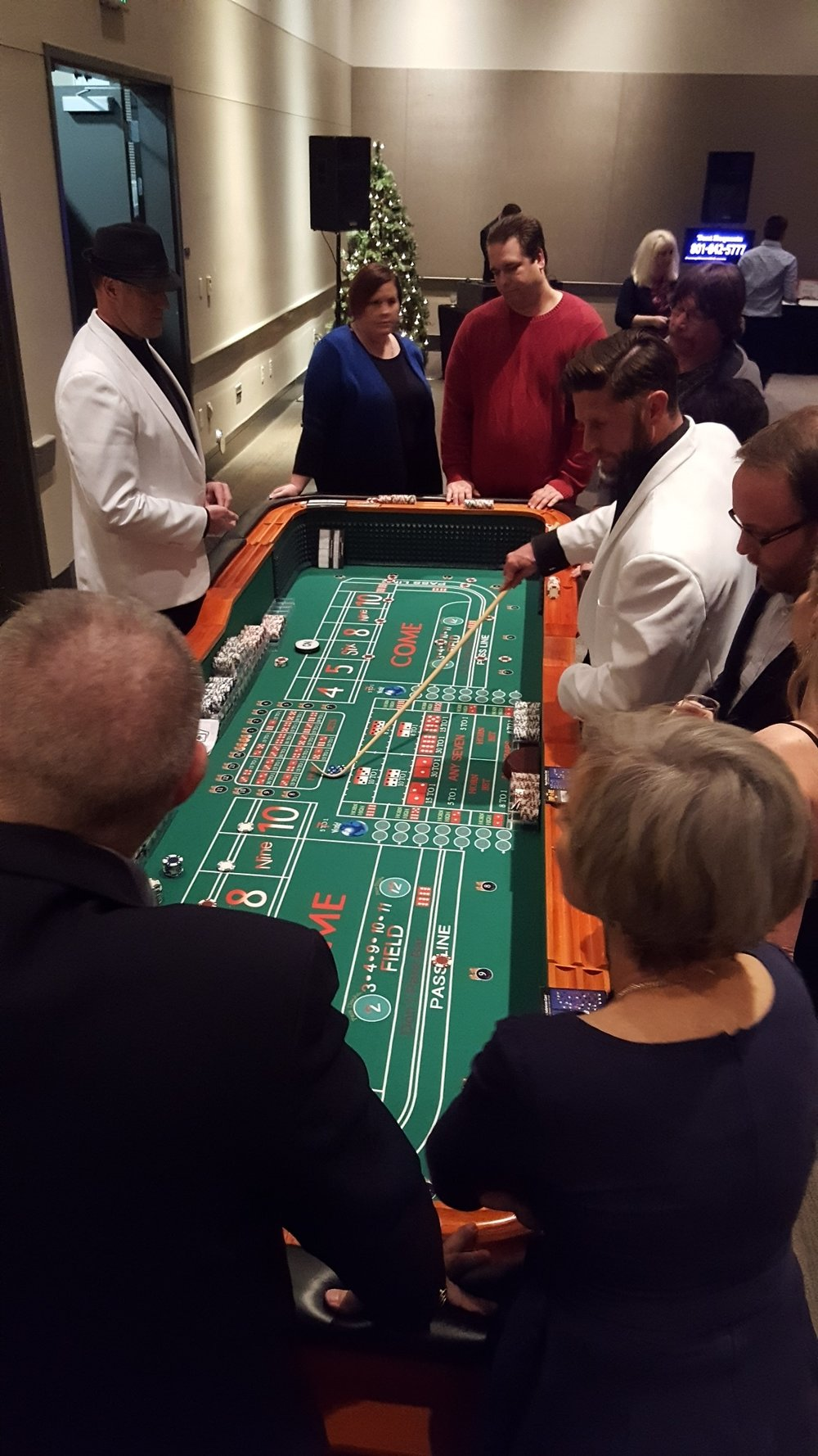 Full Sized Green Craps Table