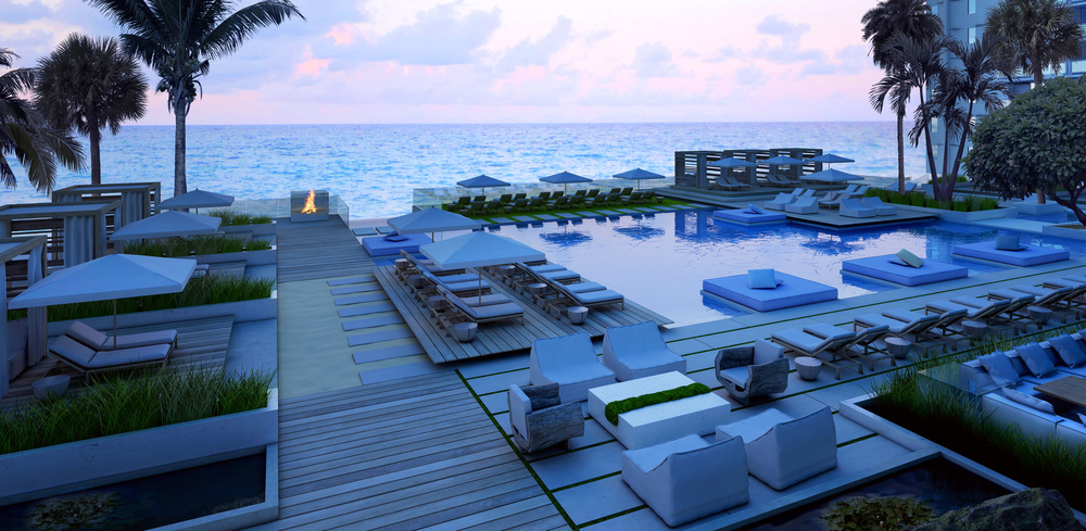 NGNY concept design and rendering for 1 Hotel South Beach main pool