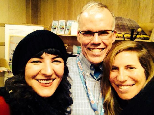 Becky and me with Bill Mckibben, founder of 350