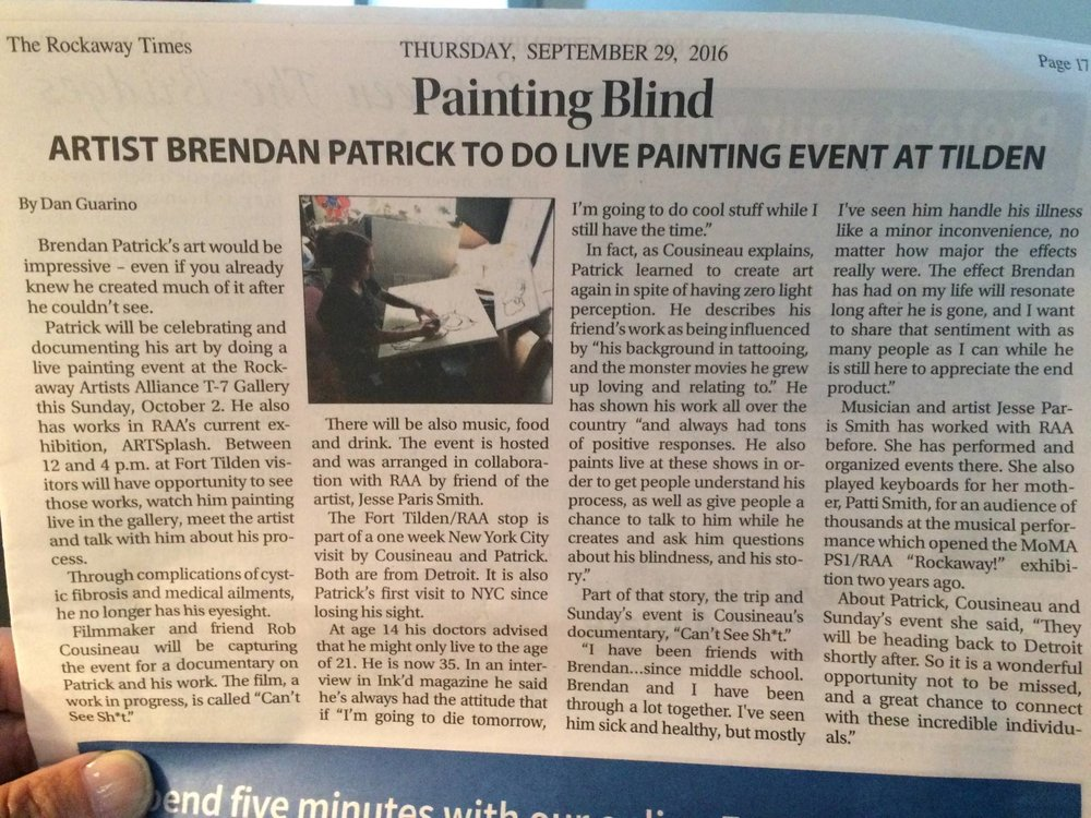 Write up about the event in The Rockaway Times