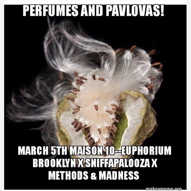 Delicious Selection of Desserts Paired with Eupohrium Brooklyn fragrances, film and photography presented by Sniffapalooza tickets HERE