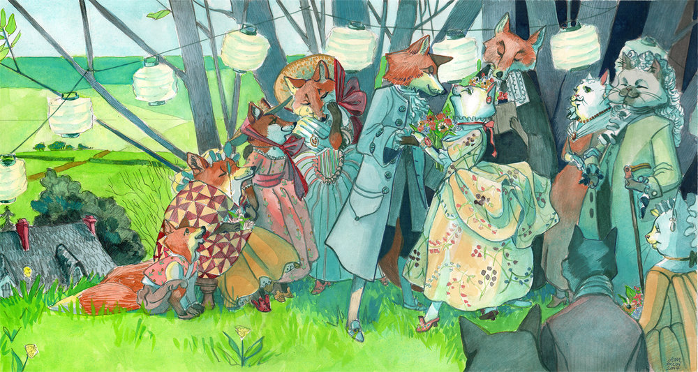 Marriage of fox and cat_Abigail McCoy.jpg
