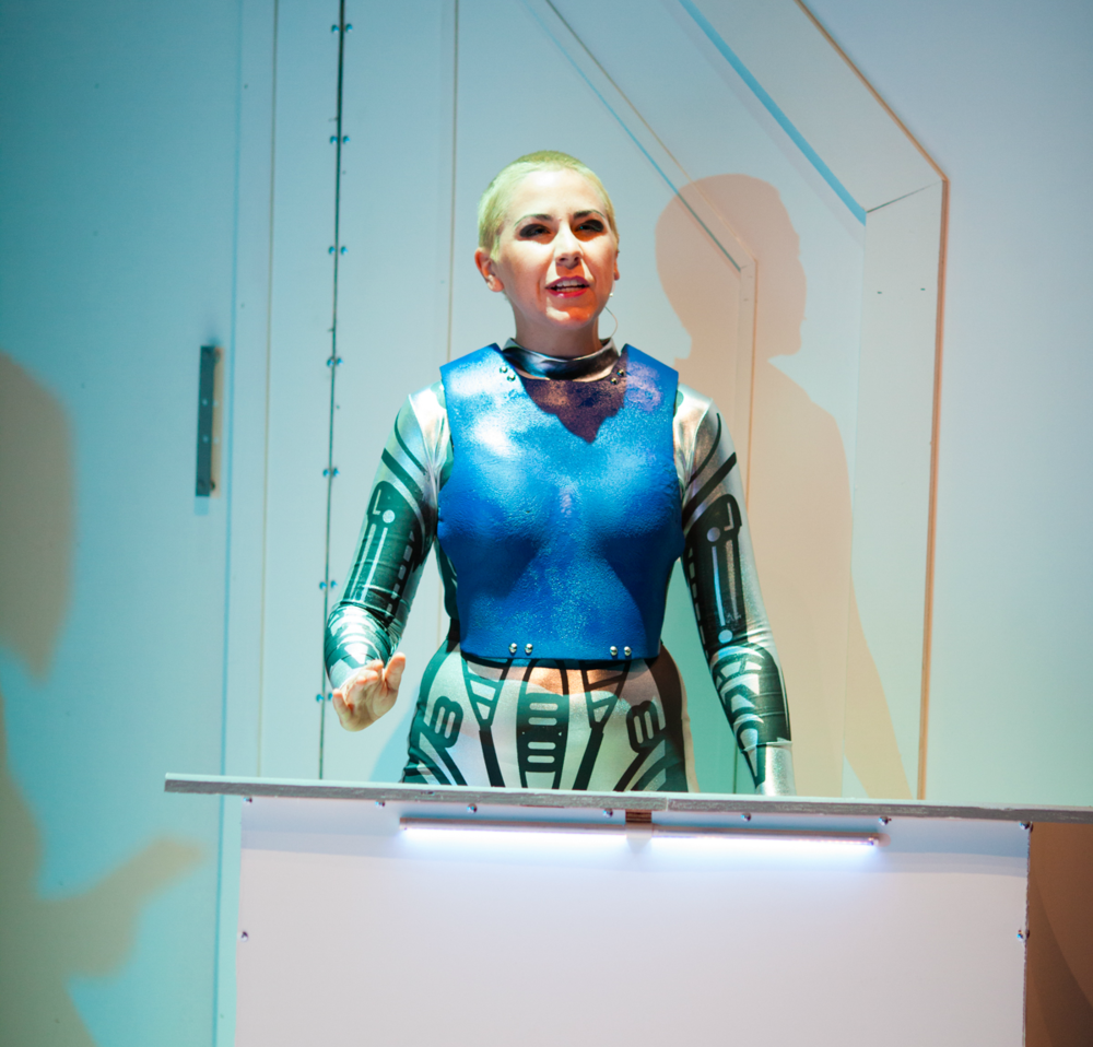 "Soroya Rowley as Demos in ""Red Planet Respit""-2014"