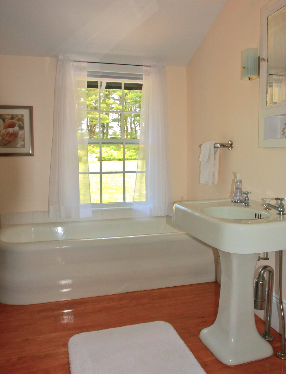 Bathroom with Formal Garden View