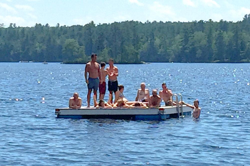 Gather on Swim Raft