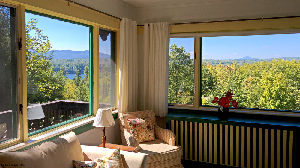 Master Sitting Room's view extends into NH