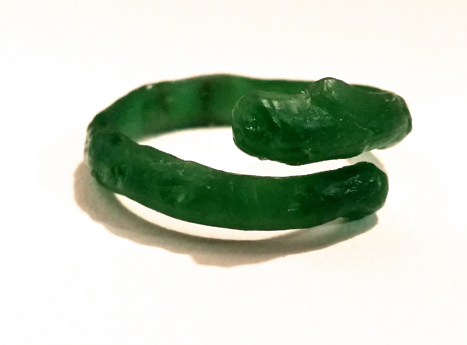 Wax model of Twig Thumb Ring