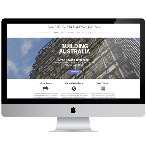 Construction pumps Australia Website Design