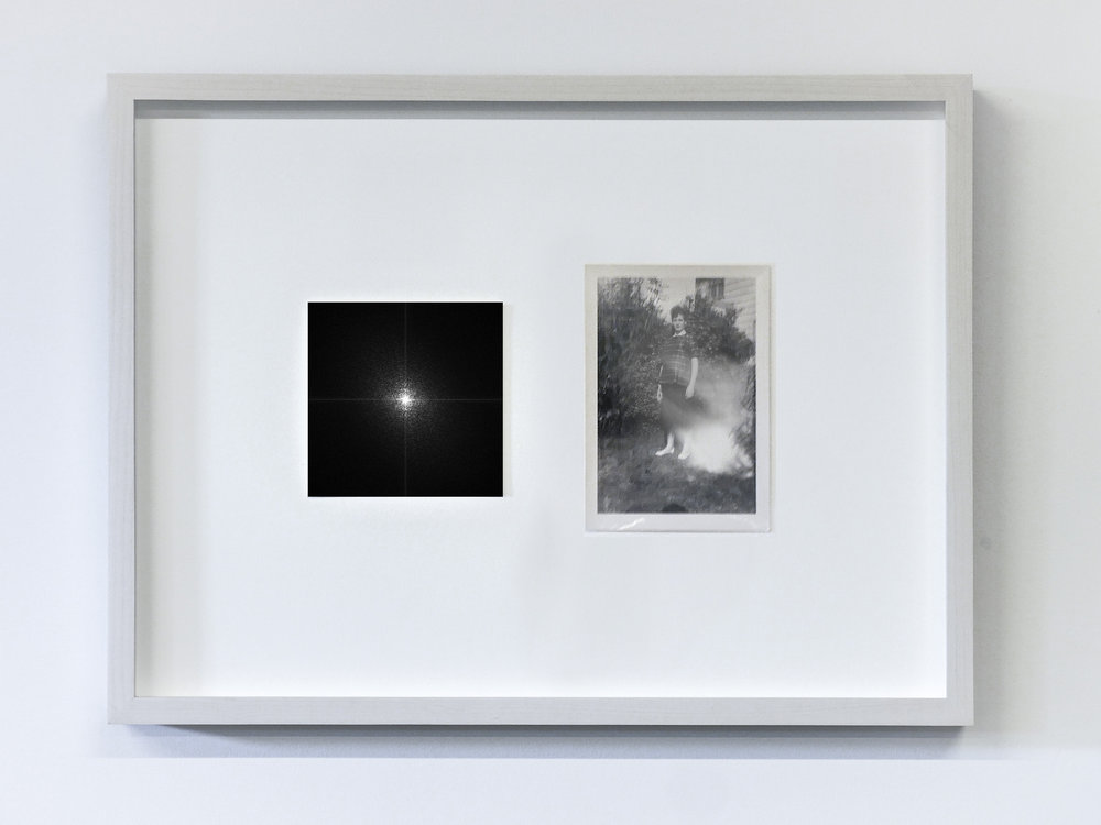 The Essence of a Moment/Fourier 3 , 2017 C-Print and vintage photo in wooden frame 11.8 x 15.75 in (30 x 40 cm) Edition of 1, unique work