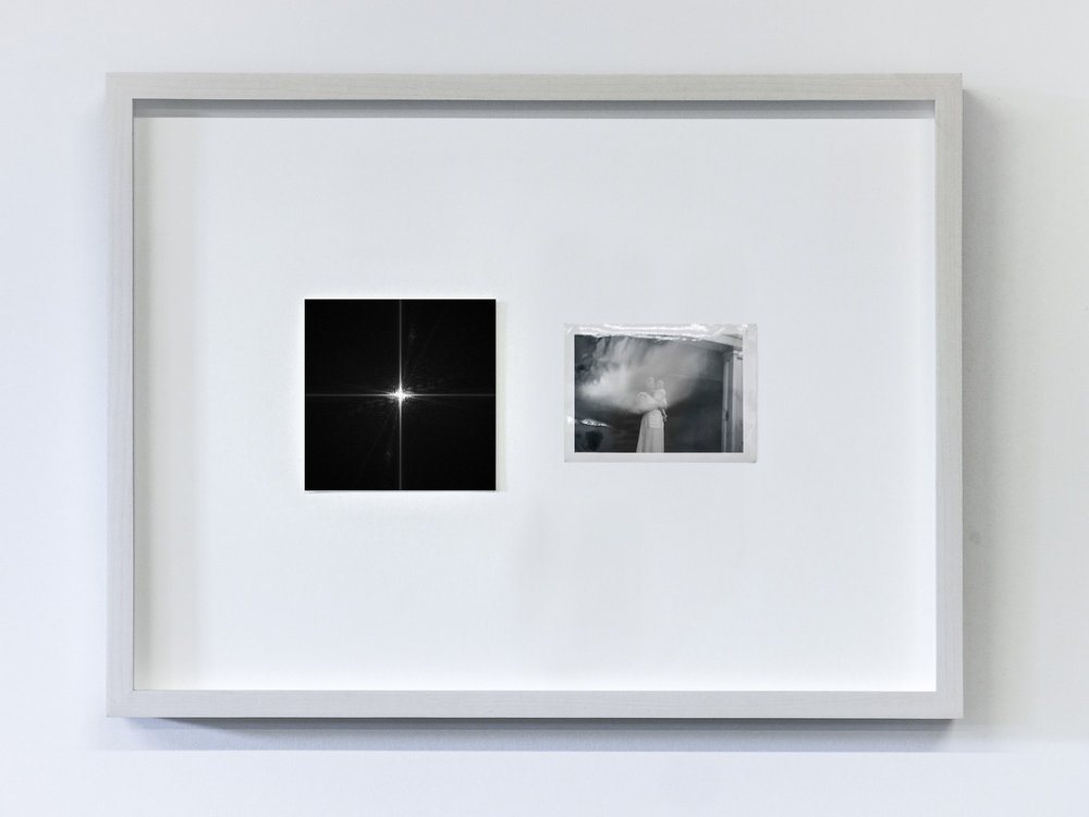 The Essence of a Moment/Fourier 6, 2017  C-Print and vintage photo in wooden frame  11.8 x 15.75 in (30 x 40 cm) Edition of 1, unique work