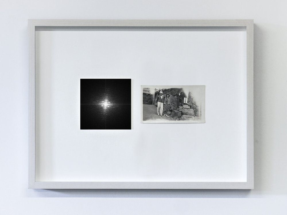 The Essence of a Moment/Fourier 4, 2017  C-Print and vintage photo in wooden frame  11.8 x 15.75 in (30 x 40 cm) Edition of 1, unique work