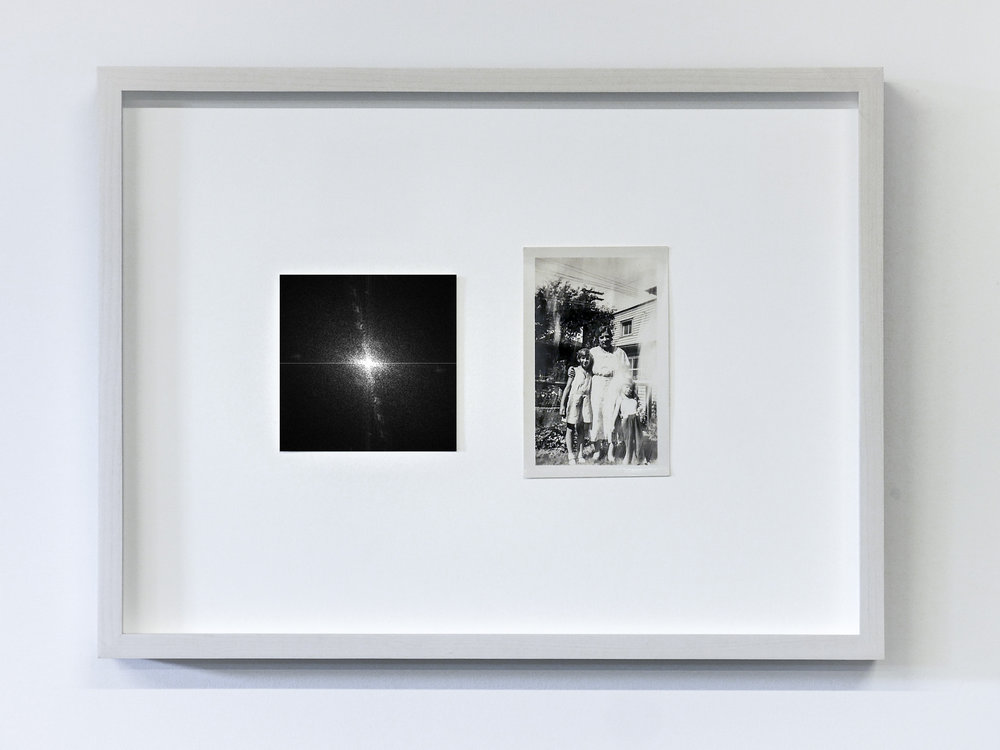 The Essence of a Moment/Fourier 7 , 2017 C-Print and vintage photo in wooden frame 11.8 x 15.75 in (30 x 40 cm) Edition of 1, unique work