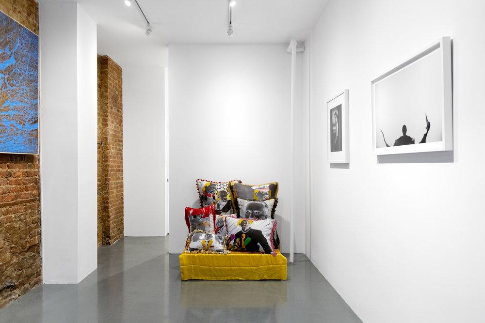 Installation view, artists & allies, 2018