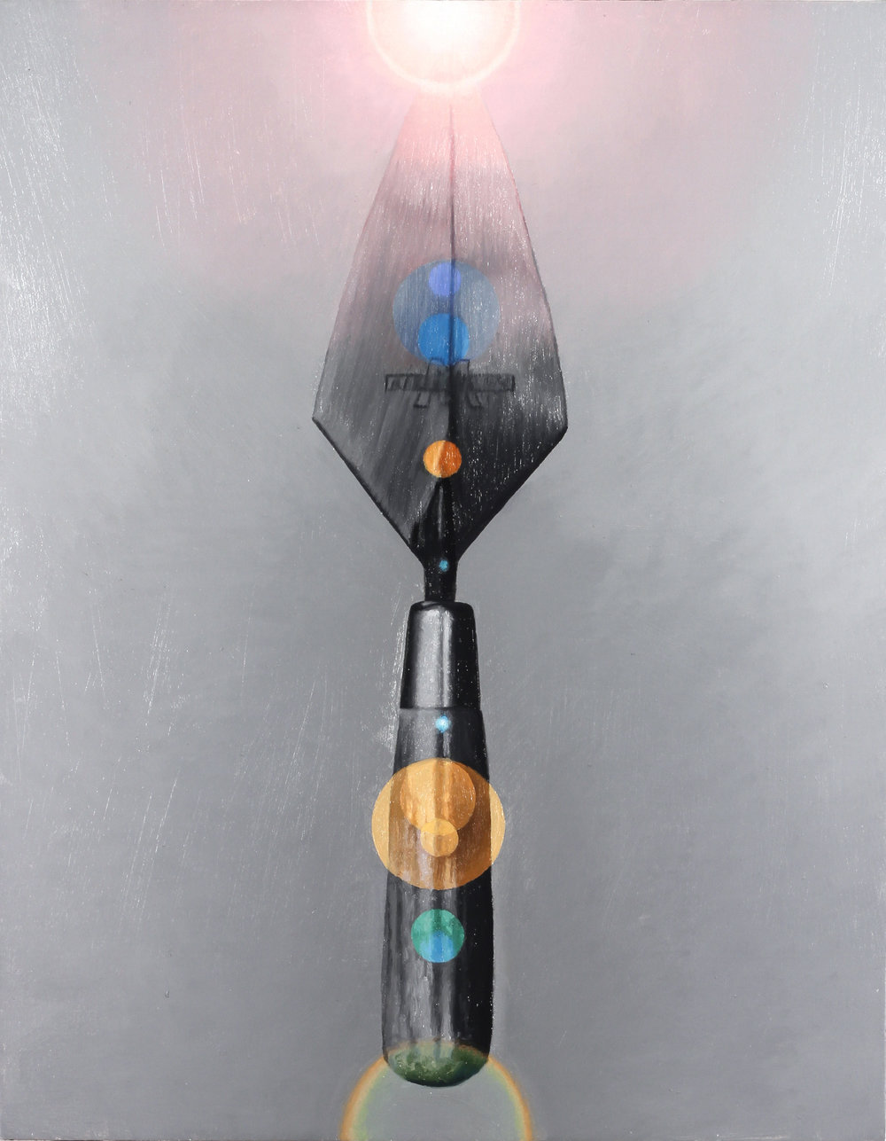 With Walker Evans II, 2018, Oil on panel, 14 x 11 in (35.6 x 27.9 cm)