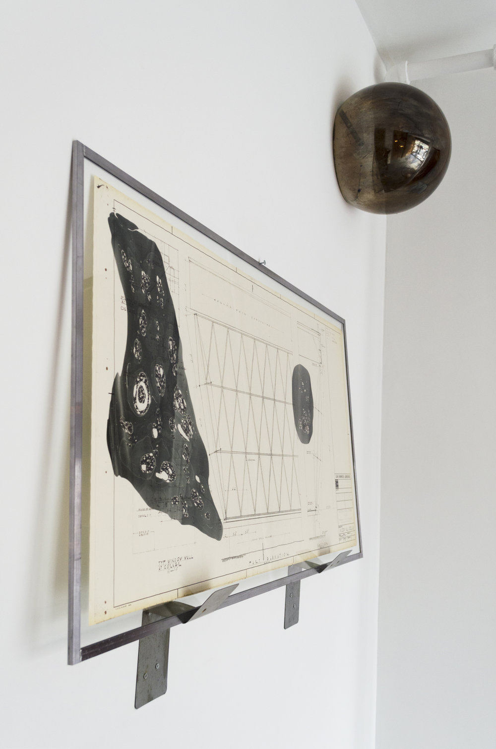 Sarah Entwistle,  Harvest Moon 1963 #3 , 2018  and The well hidden central nothingness,  2019, Exhibition View