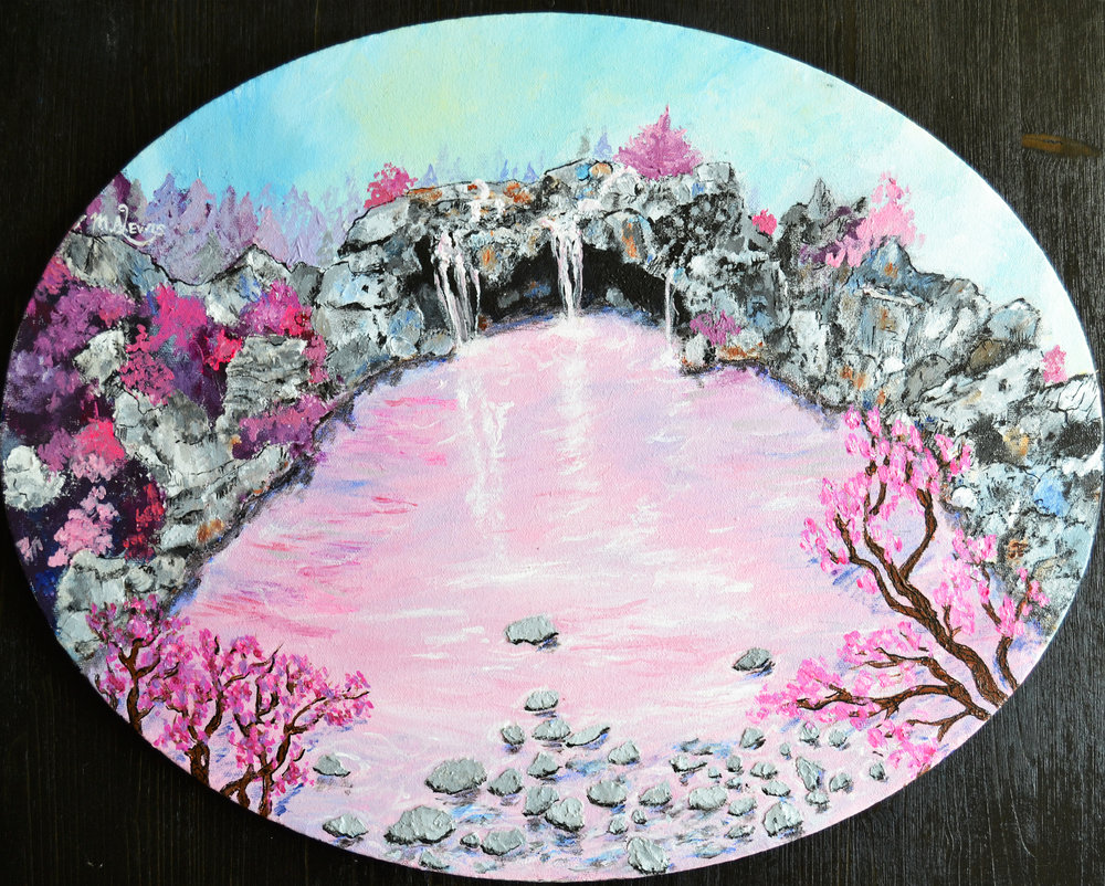Rose Fairy Pools & Tea Kettle Frippery (Triptych)