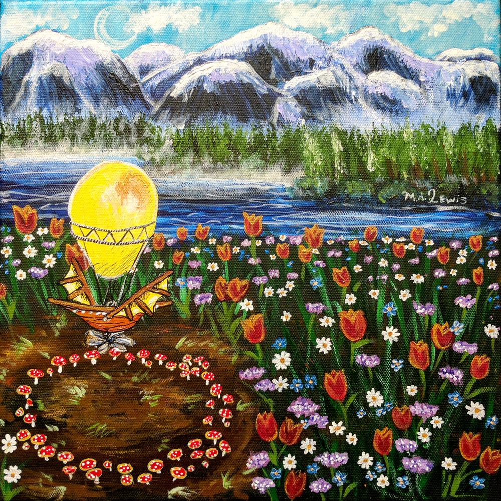 Bob Ross Inspirational Tulips