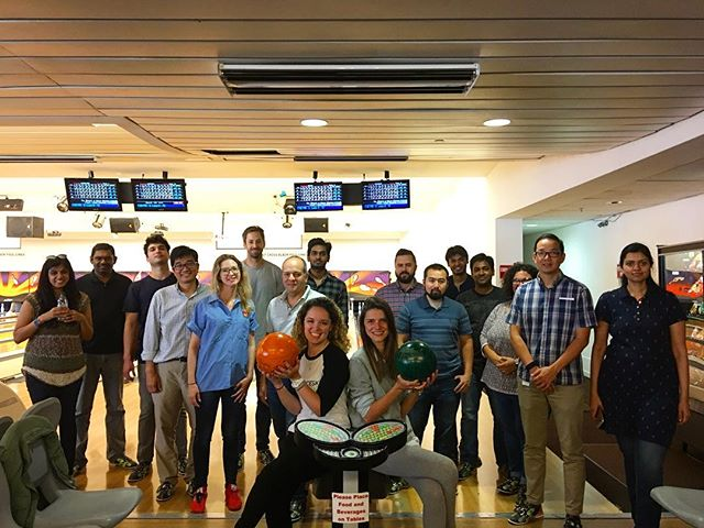 Autodesk Gallery is in house! Come and enjoy yourself at Yerba Buena Bowling & grab a bite to eat at the Pin Up while you're here #bowling #teambuilding #soma #yerbabuenagardens