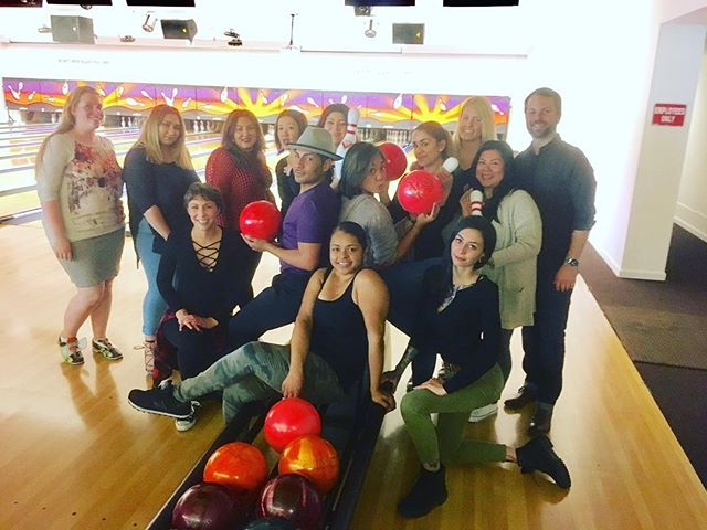 Bowling is always better with friends and colleagues! #bowling #teambuilding #yerbabuenagardens #soma