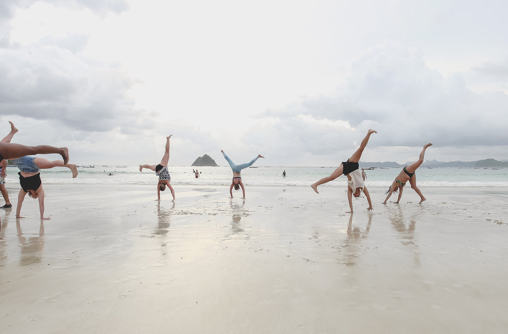 Beach Handstands Bali Yoga Retreat