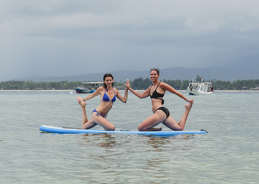 SUP yoga retreat Bali