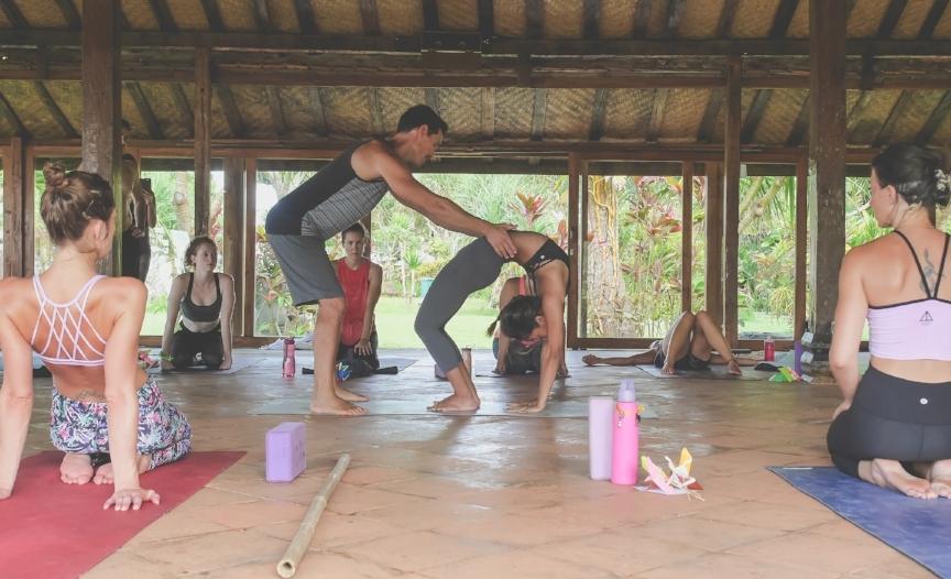 Photo taken during Exhale Yoga Retreats 200hr Yoga Teacher-Training in Bali