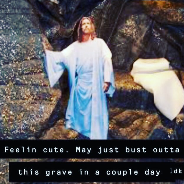 We know how this story ends! Who is thankful that Jesus DID bust out of the grave—defeating, sin & death forever more! AMEN!! Give Jesus a hand clap of praise! Hope to see ya Easter morning! ❤️⚰️——  🧨💥🦋