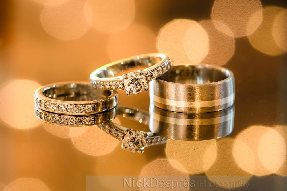 What stunning wedding rings, all designed and made by Emma, Danielle's sister.  A very personal touch.