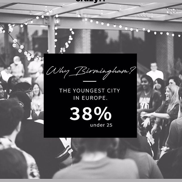WHY BIRMINGHAM? One amazing fact is that it's the youngest city in all of Europe! What an incredible opportunity to impact this next generation for Christ! #atlasfamuk