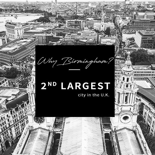Did you know? ✨ Birmingham, England is the 2nd largest city in the UK…With over 1 million people, this city is diverse and bustling!  It's also the YOUNGEST city in all of Europe. (Nearly 40% under 25 years old) Crazy! 🤯 ❗️In just 37 days we will be leaving our little city of 80,000 & entering this huge, new, exciting place.🤗 • Here are some fun things we are looking forward to about our new city, Birmingham: 🌙 Places being open past 8pm (lol) 🍫 Cadbury chocolate factory 🌏 people from all over the world 👩‍🎨 culture and art scene 🚣‍♀️ Sweet canal system throughout the city 🌃 The hustle and bustle of a big city! 🍫 Cadbury Chocolate factory 🕍 cool architecture and buildings 🏴󠁧󠁢󠁥󠁮󠁧󠁿 British accents... obviously.
