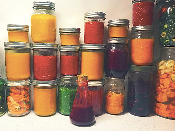Hot sauce heaven! Clarina's recent adventures in farm-to-fermenting, with Pitchfork Farm peppers.