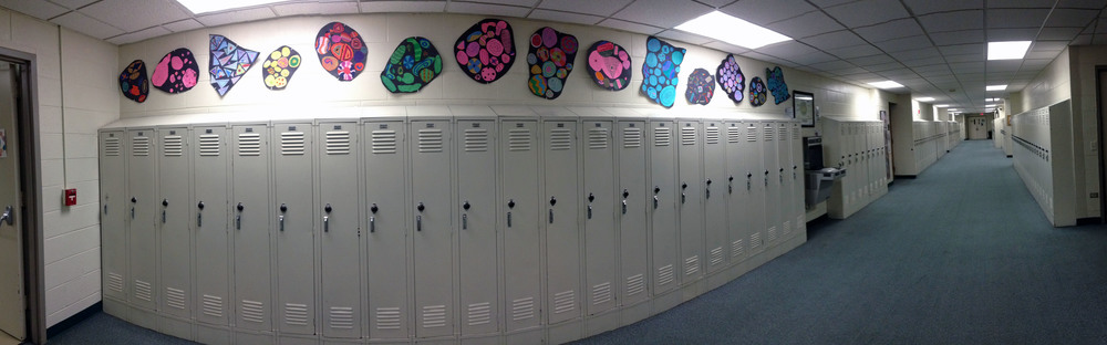 6th grade shape study installation